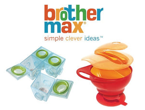 Brother Max Bundle of 2nd Stage Weaning Pots and Easy Hold Weaning Bowl Set