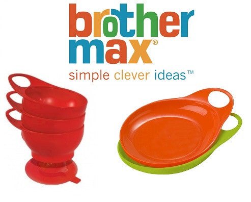 Brother Max Bundle of Easy Hold Bowls and Easy Hold Plates