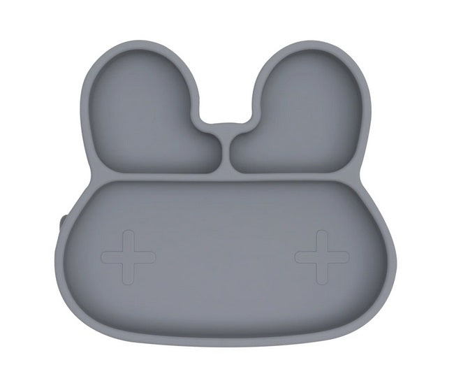 We Might Be Tiny Bunny Stickie Plate - Grey
