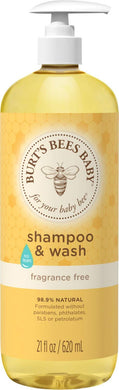 Burt's Bees Baby Bee Shampoo and Body Wash - Fragrance Free - 21 oz
