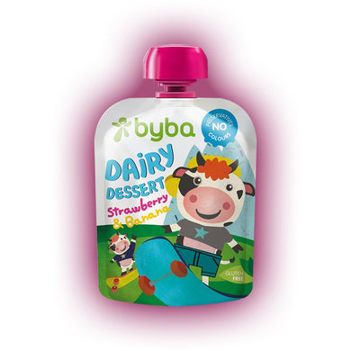 Byba Dairy Dessert Strawberry and Banana 90 g