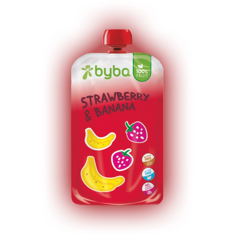 Byba Strawberry and Banana 120 g