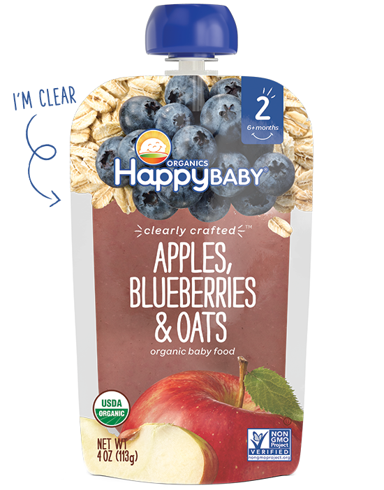 Happy Baby Clearly Crafted Apples, Blueberries and Oats