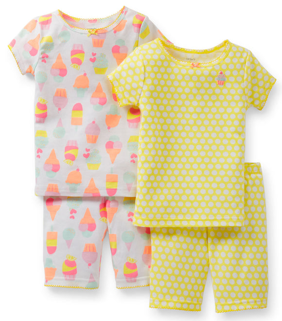 Carter's 4-Piece Snug Fit Cotton PJs - Cupcake (Size: 3T)
