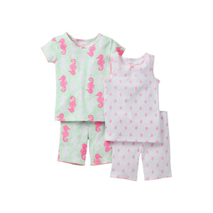 Carter's 4-Piece Snug Fit Cotton PJs - Seahorse (Size: 4T)