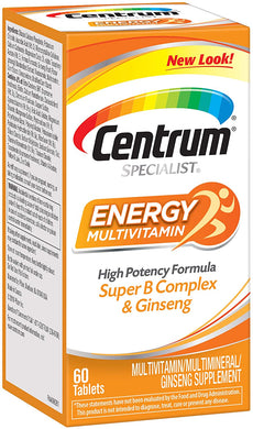 Centrum Specialist Energy Complete Multivitamin 60 tablets