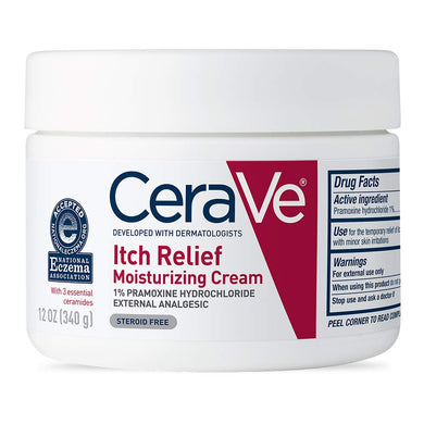 CeraVe Moisturizing Cream for Itch Relief 12 oz