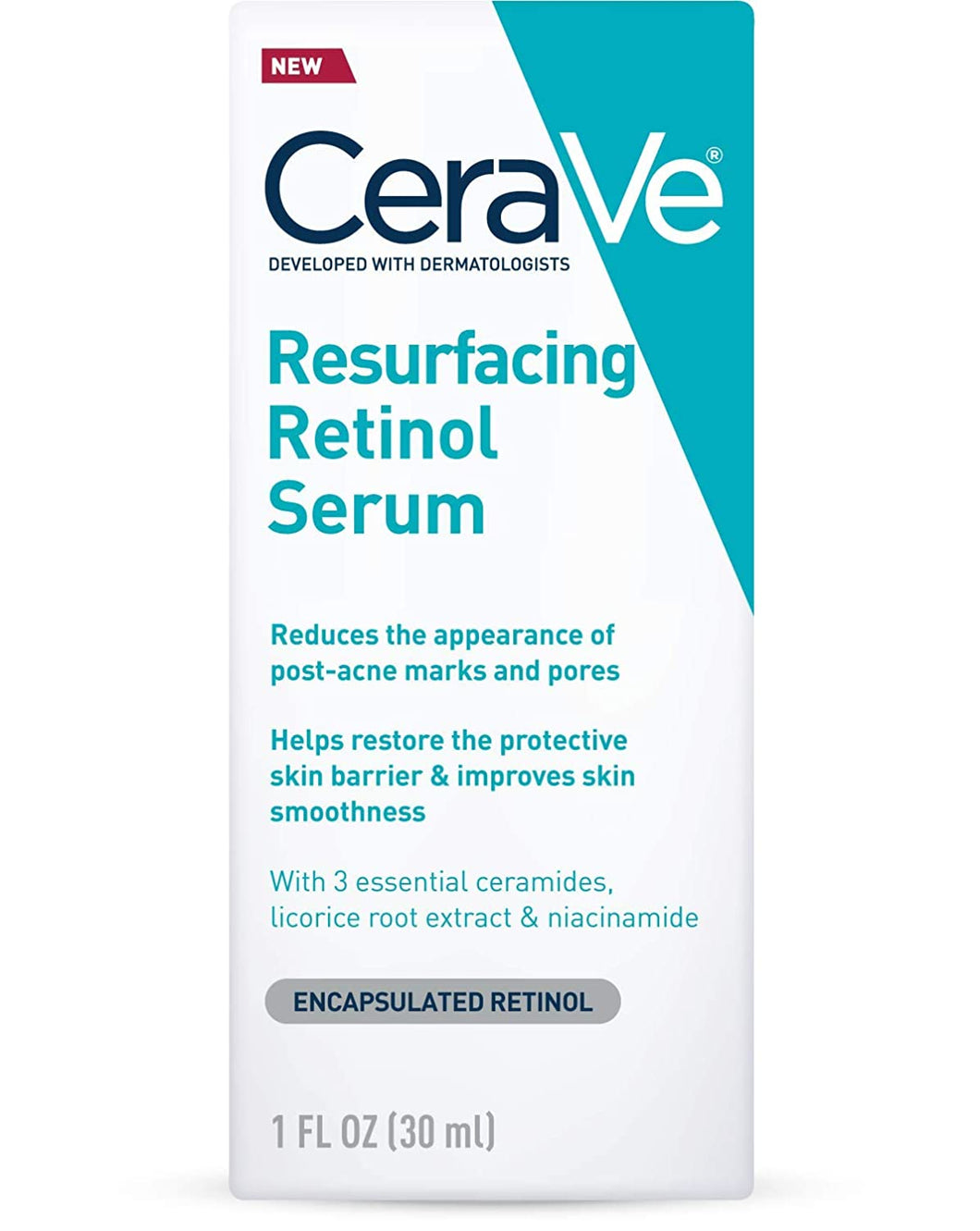 CeraVe Retinol Serum for Post-Acne Marks and Skin Texture 1 fl oz