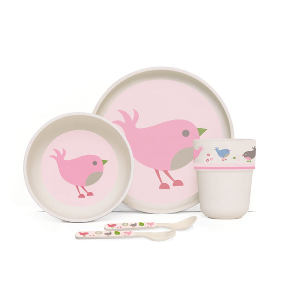 Penny Scallan Bamboo Mealtime Set - Chirpy Bird