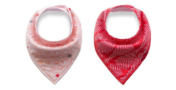 Premium Bandana Bibs - Circles and Arrows