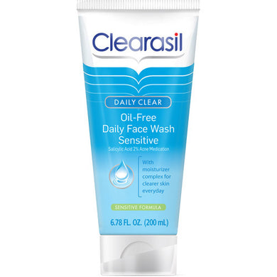 Clearasil Daily Clear Oil-Free Daily Face Wash Sensitive 6.5 oz.