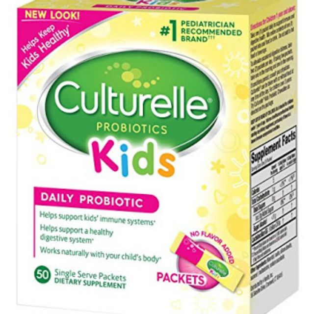 Culturelle Kids Daily Probiotic Supplement (50 packets)