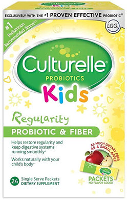 Culturelle Kids Regularity Probiotic and Fiber Supplement (24 packets)