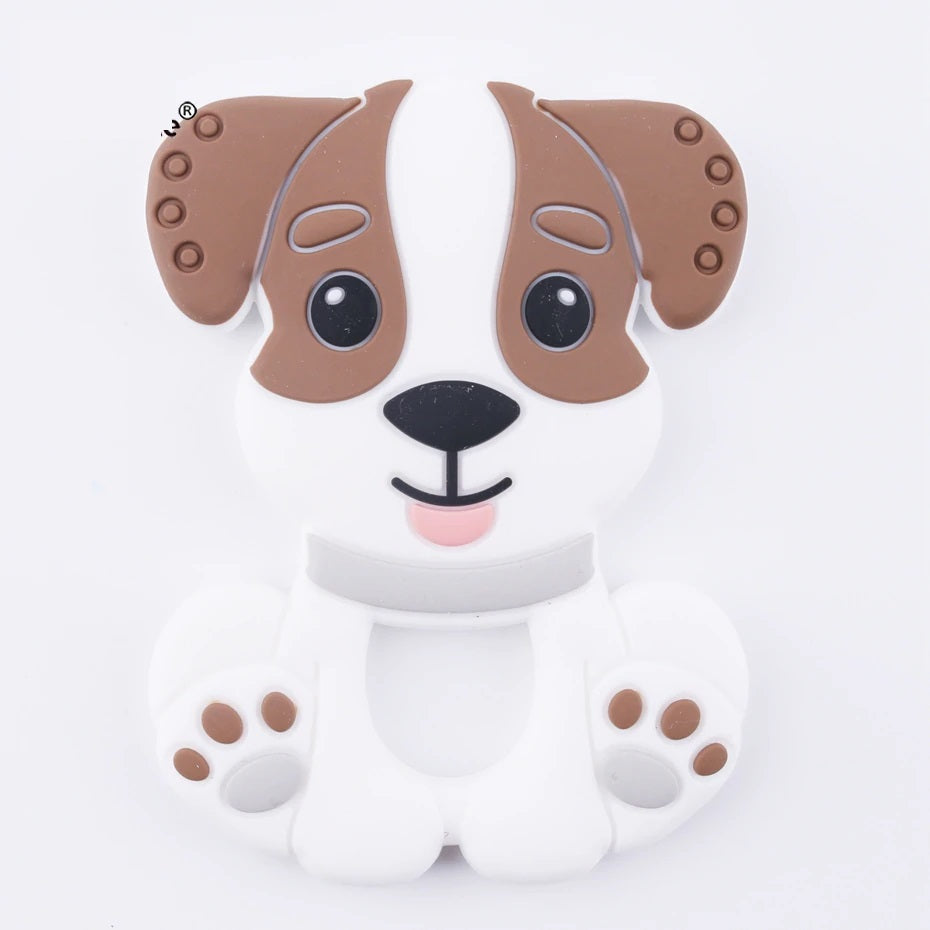 Popsicle Brown Puppy Teether