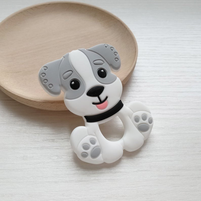 Popsicle Grey Puppy Teether