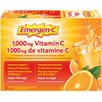 Emergen-C Super Orange Flavor Drink Mix 30 packets