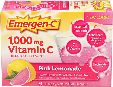 Emergen-C Pink Lemonade Flavor Drink Mix 30 packets