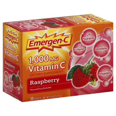 Emergen-C Raspberry Flavor Drink Mix 30 packets