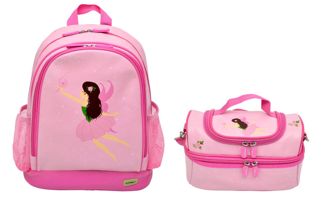 Bobble Art Bundle of Large Backpack and Large Lunch Bag - Fairy