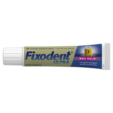 Fixodent Ultra Max Hold Denture Adhesive, 2.2 Ounce