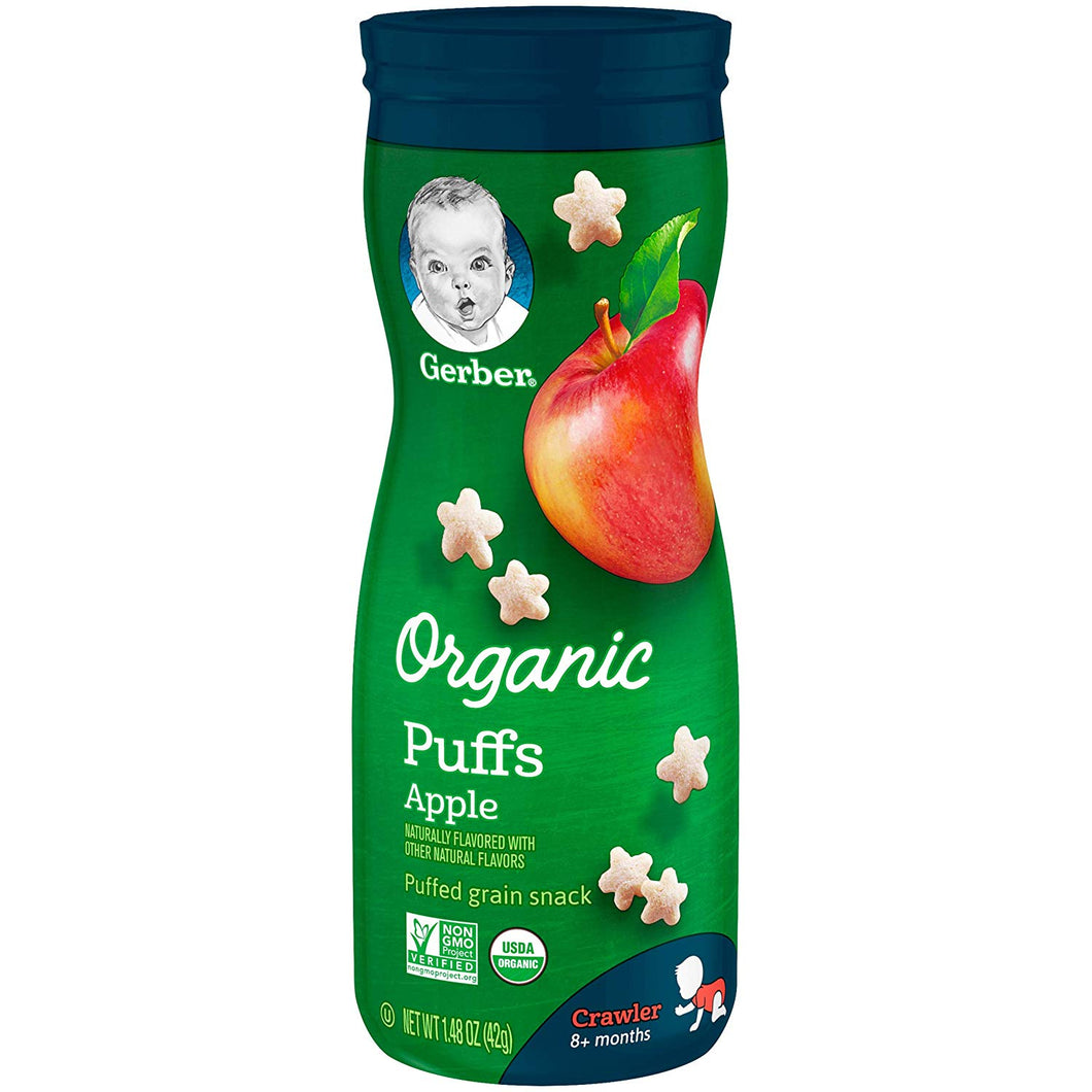 Gerber Organic Apple Puffs 1.48 oz.