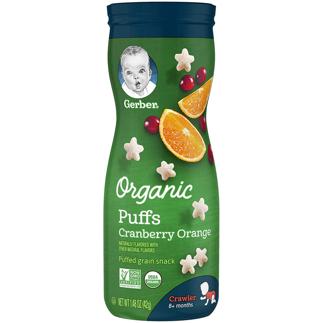 Gerber Organic Cranberry Orange Puffs 1.48 oz.
