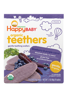 Happy Baby Organic Gentle Teethers - Blueberry and Purple Carrot