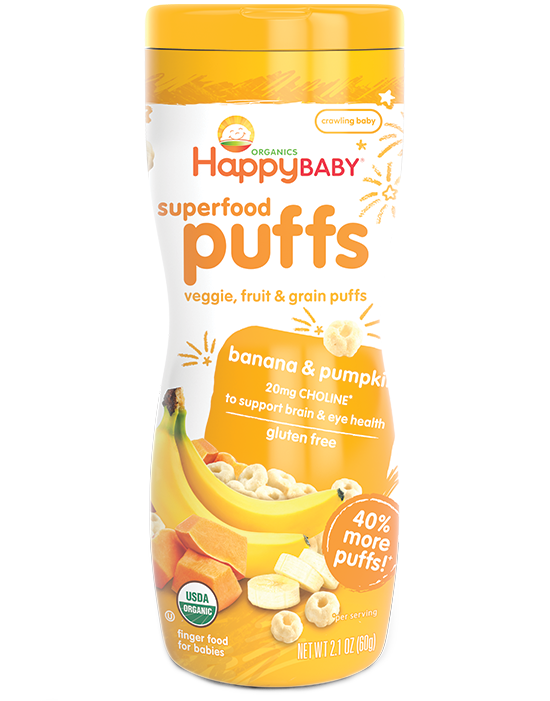 Happy Puffs - Banana & Pumpkin