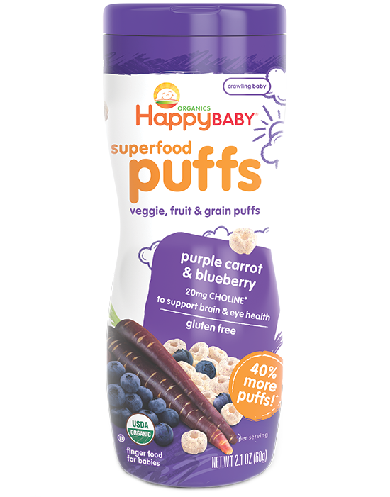 Happy Puffs - Purple Carrot and Blueberry