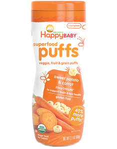 Happy Puffs - Sweet Potato & Carrot