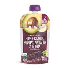Happy Baby Clearly Crafted Purple Carrots, Banana, Avocados and Quinoa 4 oz