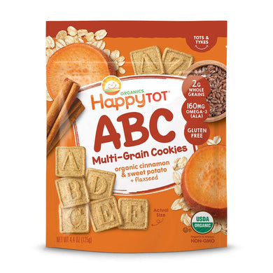 Happy Tot ABC Multigrain Cookies - Cinnamon Sweet Potato Plus Flaxseed