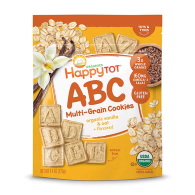 Happy Tot ABC Multigrain Cookies - Vanilla Oat Plus Flaxseed