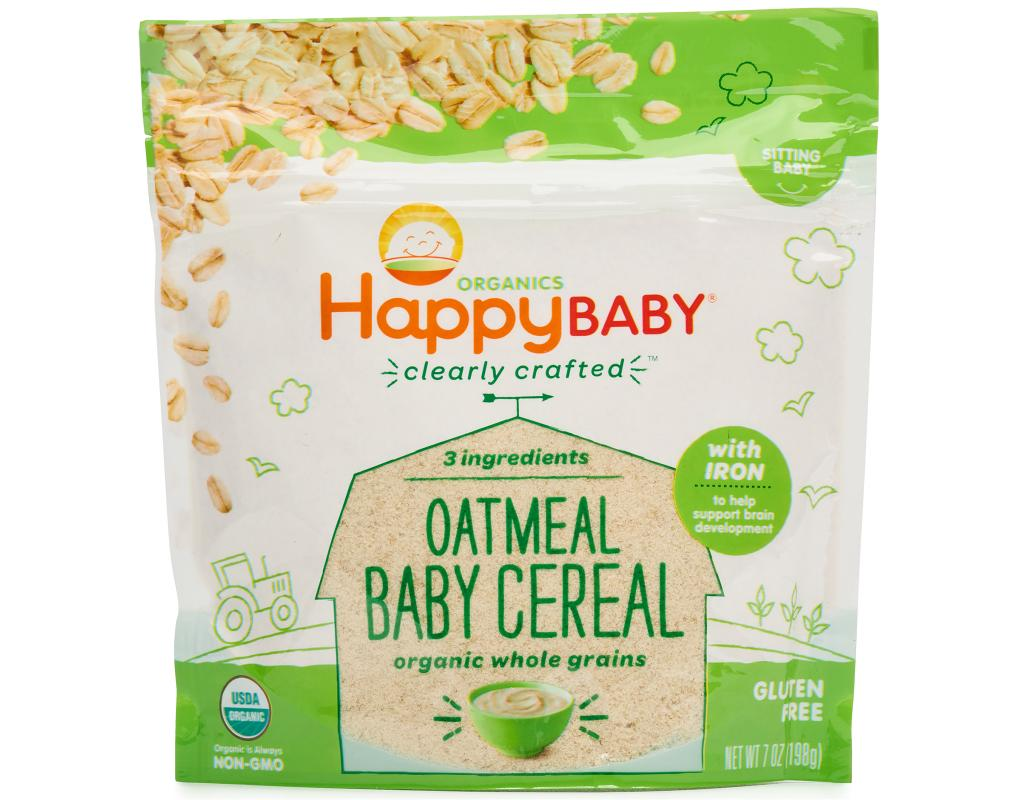 Happy Baby Clearly Crafted Organic Oatmeal Cereal