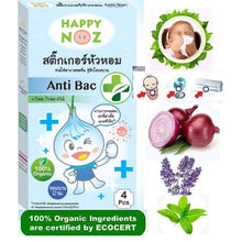 Happy Noz w/ Anti-Bac 100% Organic Onion Sticker - Blue Box - Bacterial Infections
