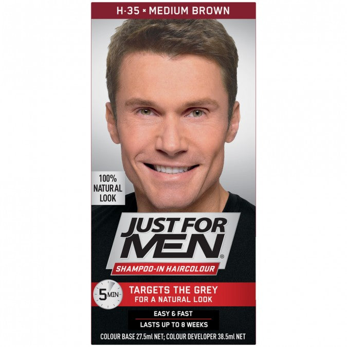 Just for Men Shampoo-in Hair Color Medium Brown