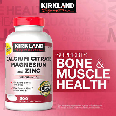 Kirkland Calcium Citrate Magnesium and Zinc 500 tablets