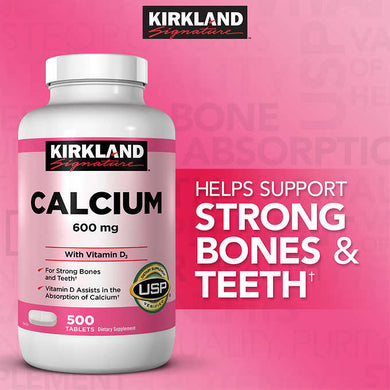 Kirkland Calcium 600 mg with D3 500 tablets