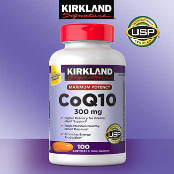 Kirkland CoQ10 300 mg 100 softgels