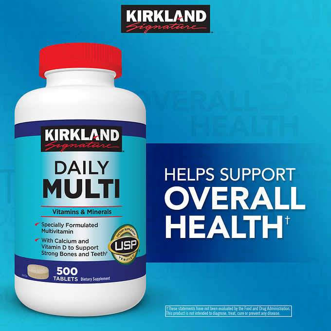 Kirkland Daily Multi 500 tablets