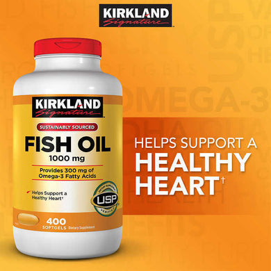 Kirkland Fish Oil 1000 mg 400 softgels