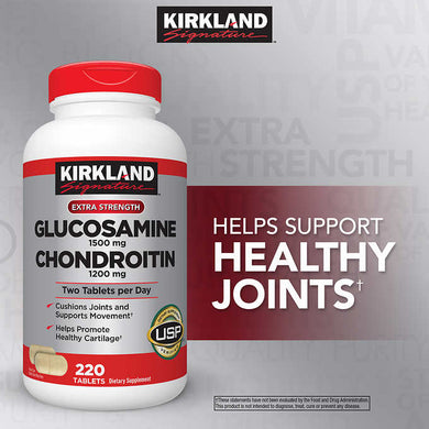 Kirkland Glucosamine with Chondroitin 220 Tablets