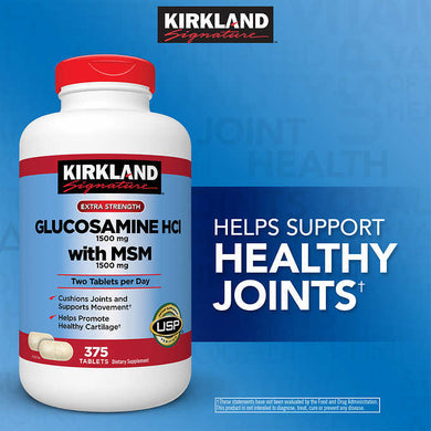 Kirkland Glucosamine with MSM 375 Tablets