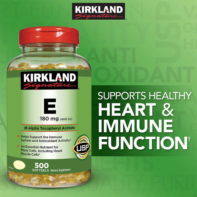 Kirkland Vitamin E 400 IU 500 softgels