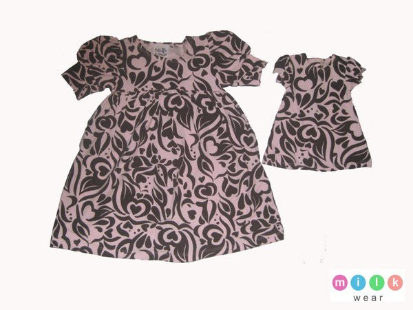 Milk Wear Paisley Print Dress with Doll Dress