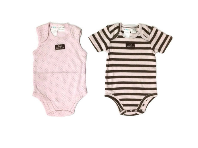 Milk Wear 2-pack Bodysuits Pink 3-6 mos