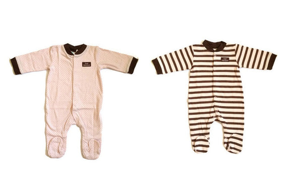 Milk Wear 2-pack Sleepsuits - Just Hatched (Pink)