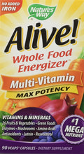 Nature's Way Alive Multivitamin No Added Iron Max Potency 90 vcaps