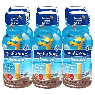 Pediasure Grow and Gain Chocolate Shake 8 fl oz. 6-pack