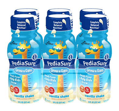 Pediasure Grow and Gain Vanilla Shake 8 fl oz. 6-pack